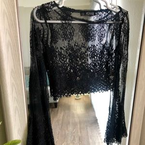 Rehab Bell sleeve lace top